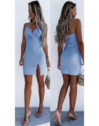 Елегантна дамска рокля в светлосиньо - код 8979