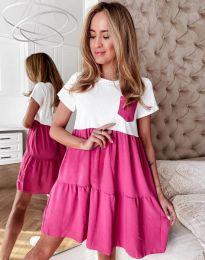 Дамска рокля в цвят циклама - код 2506