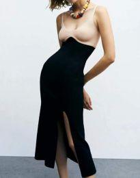 Ефектна дамска рокля в черно - код 1036