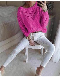 Дамска блуза в циклама - код 6182