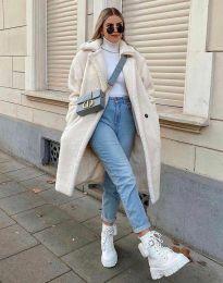 Дамско палто в бяло - код 8302