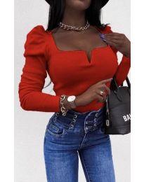 Елегантна блуза в червено - код 2620