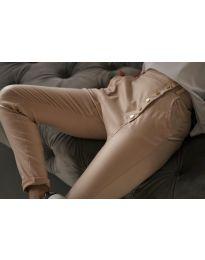 Дамски панталон в бежово - код 954