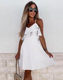 Атрактивна дамска рокля в бяло - код 2739
