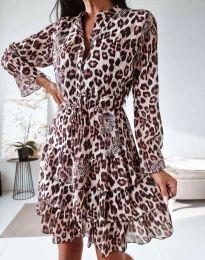 Дамска рокля с леопардов десен - код 0586 - 4