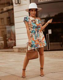 Дамска рокля с флорален десен - код 2503 - 4
