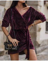Дамска рокля в бордо - код 238