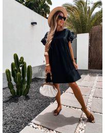 Свободна дамска рокля в черно - код 744