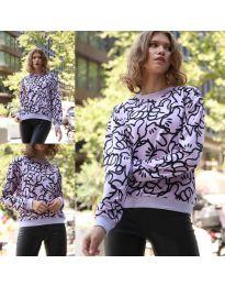 Дамска блуза с анимационен десен - код 1471 - 3