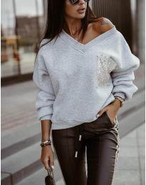 Дамска блуза в сиво - код 904