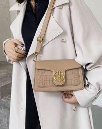 Дамска чанта в цвят капучино - код B424