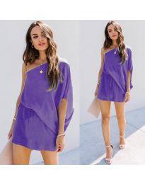 Ефирна дамска рокля в лилаво - код 9933