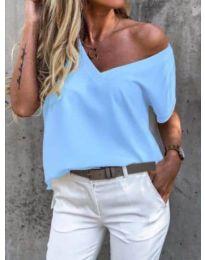 Дамска тениска в светло синьо - код 0589