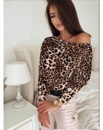 Дамска блуза с ефектен десен - код 5156 - 8