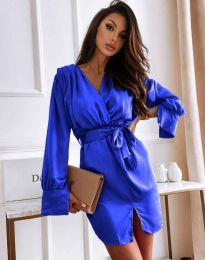 Елегантна рокля в тъмносиньо - код 2741