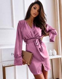 Елегантна рокля в лилаво - код 2741