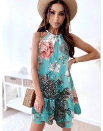 Атрактивна рокля в цвят мента - код 7027