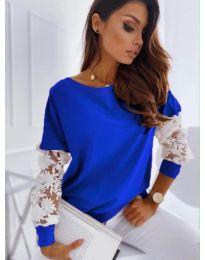 Елегантна дамска блуза в тъмно синьо - код 4426