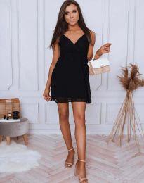 Елегантна дамска рокля по в черно - код 0890