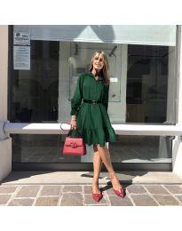 Атрактивна свободна рокля в тъмно зелено - код 960
