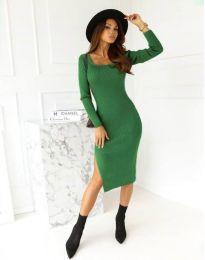 Изчистена дамска рокля в зелено - код 9782
