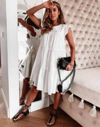 Свободна рокля в бяло - код 2666
