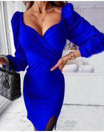 Елегантна рокля в тъмносиньо - код 2595