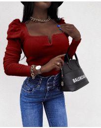 Елегантна блуза в бордо - код 2620