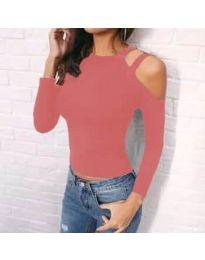 Дамска блуза в цвят корал - код 952