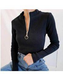 Дамска блуза в черно - код 2059