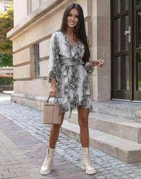 Елегантна дамска рокля с животински десен - код 0438 - 1