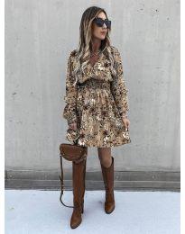 Дамска рокля с атрактивни мотиви - код 7712 - 4