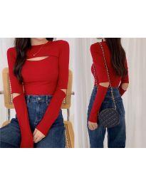 Дамска блуза в червено - код 0566