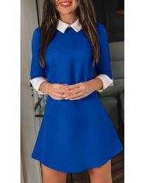 Елегантна рокля в син цвят - код 771