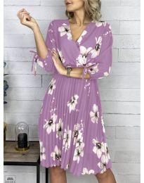 Лилава рокля на цветя - код 730