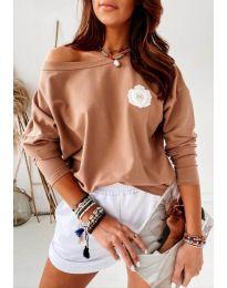 Дамска блуза в кафяво - код 4026
