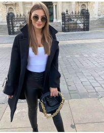 Дамско палто в черно - код 8757