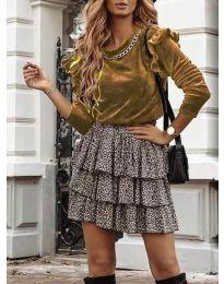 Дамска блуза в медно кафяво - код 4948