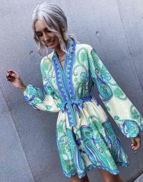 Дамска рокля с атрактивен десен - код 4753 - 4