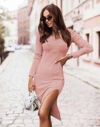 Изчистена дамска рокля в розово - код 6593