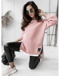 Свободна дамска туника в розово - код 0411