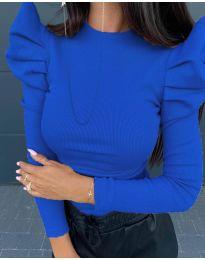 Дамска блуза в синьо - код 8027
