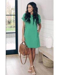 Свободна дамска рокля в зелено - код 659