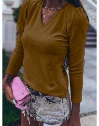 Дамска блуза в кафяво - код 0755