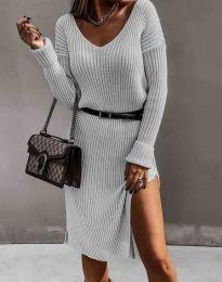 Дамска рокля в сиво - код 6829