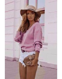 Елегантна дамска блуза в розово - код 812