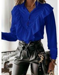 Дамска риза в тъмно синьо - код 9032