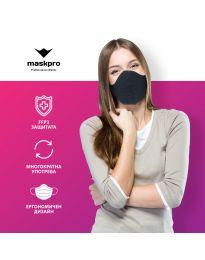 Професионална  предпазна черна маска - код 014