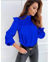 Дамска блуза в тъмно синьо - код 6202