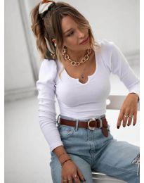 Дамска блуза в бяло - код 11493